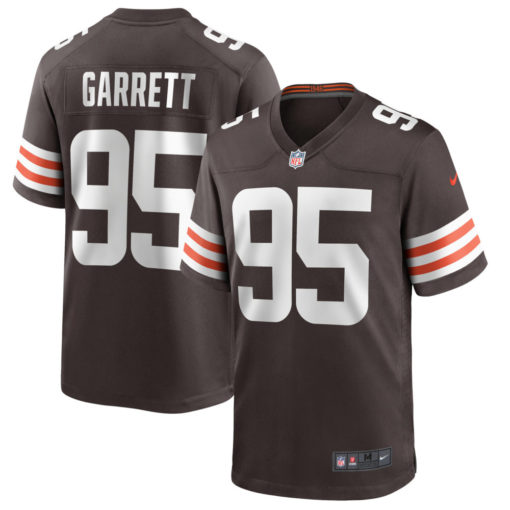 Men's Cleveland Browns Myles Garrett Nike Brown Game Player Jersey