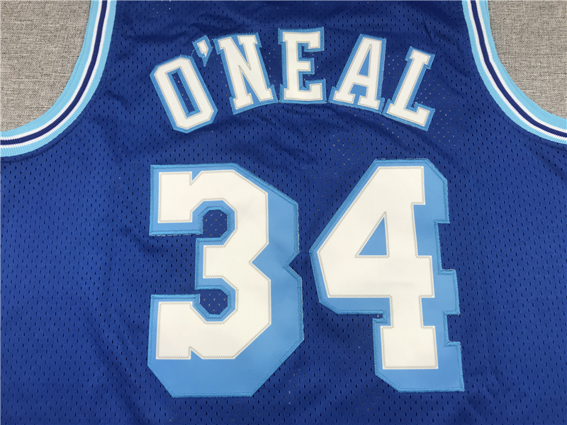 Shaquille O'Neal 34 Los Angeles Lakers 96-97 Swingman Blue Jersey