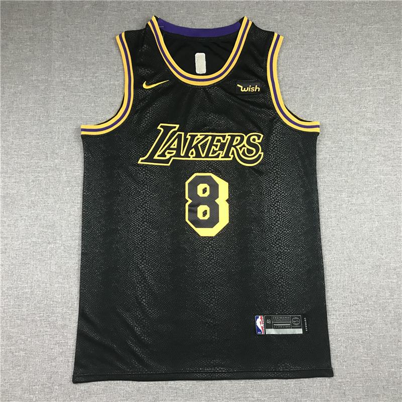 Kobe Bryant Los Angeles Lakers 2020 Black 8-24 Mamba Day Special Edition Jersey