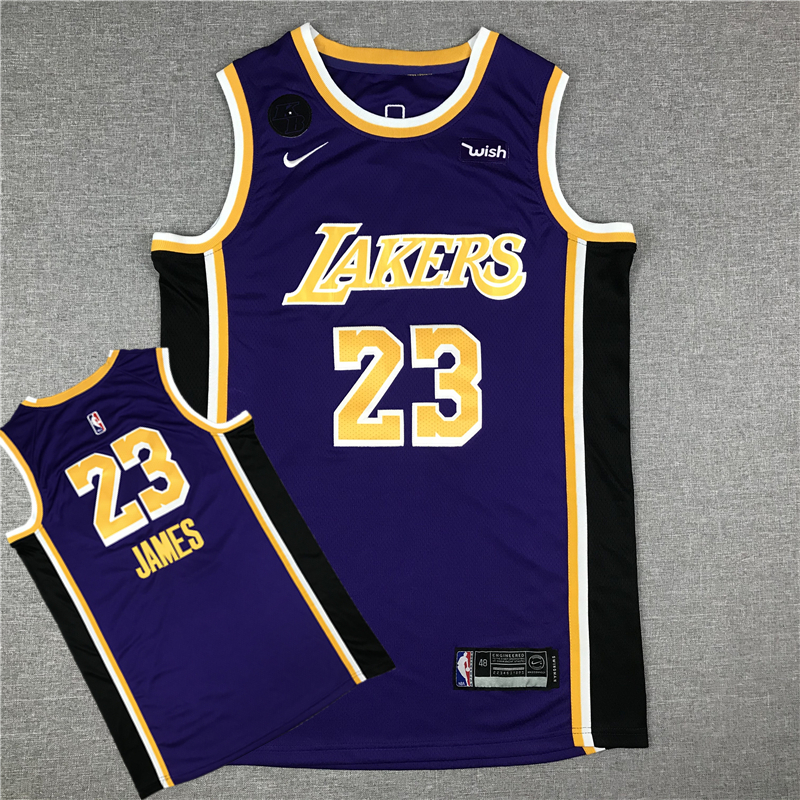LeBron James 23 Los Angeles Lakers 2019-20 Purple Statement Edition Jersey