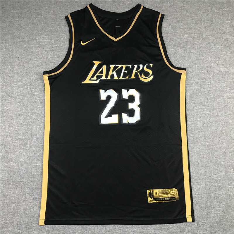 LeBron James 23 Los Angeles Lakers Black Golden 2020-21 Limited Edition Jersey
