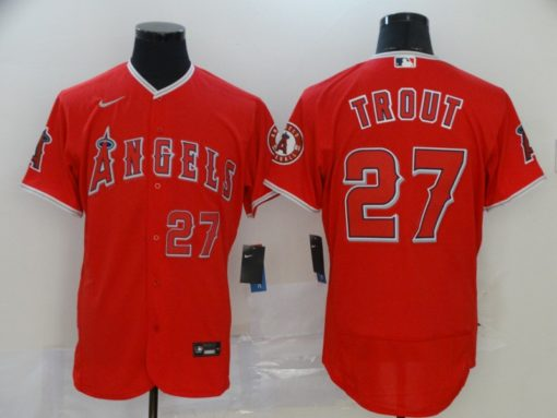 Men's Los Angeles Angels Mike Trout Red Alternate Player Jersey