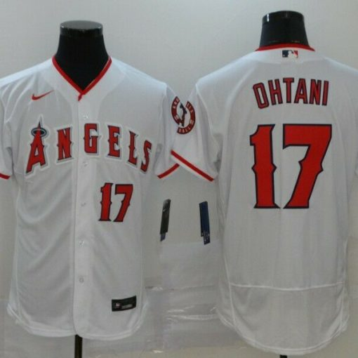 Men's Los Angeles Angels Shohei Ohtani White Home Player Name Jersey