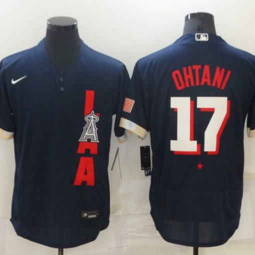 Shohei Ohtani 17 Los Angeles Angels 2021 MLB All-Star Game Navy Jersey