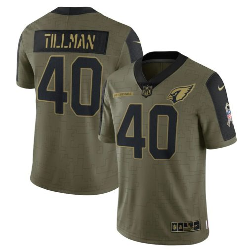 Men's Arizona Cardinals Pat Tillman Nike Olive 2021 Salute To Service Retired Player Limited Jersey