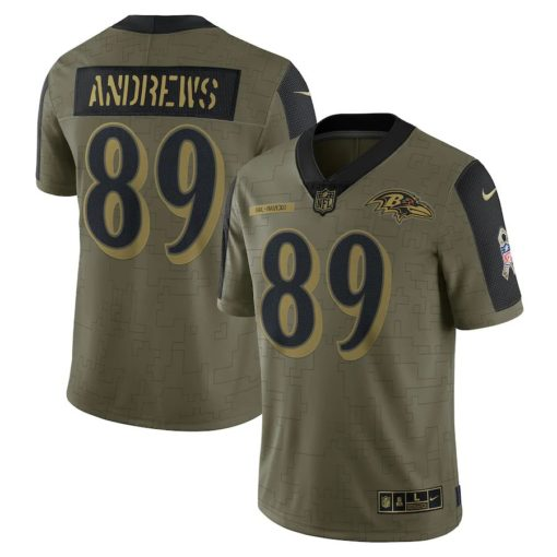 Men's Baltimore Ravens Mark Andrews Nike Olive 2021 Salute To Service Limited Player Jersey