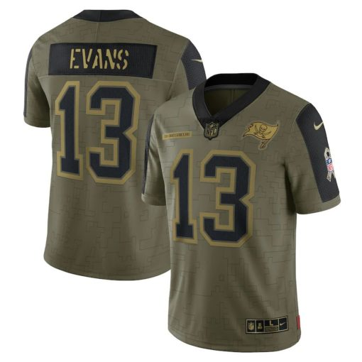 Men's Tampa Bay Buccaneers Mike Evans Nike Olive 2021 Salute To Service Limited Player Jersey