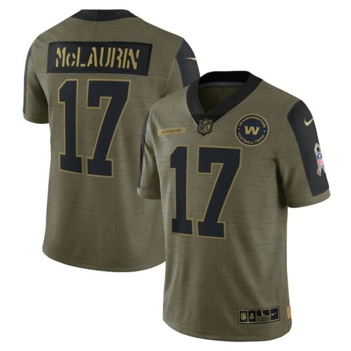 Men's Washington Football Team Terry McLaurin Nike Olive 2021 Salute To Service Limited Player Jersey